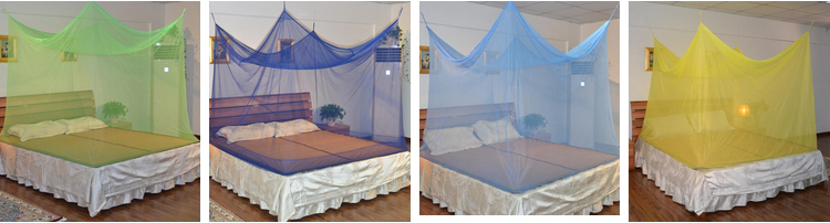 100% Polyester Material Insecticide Treated White Mosquito Net Made in China