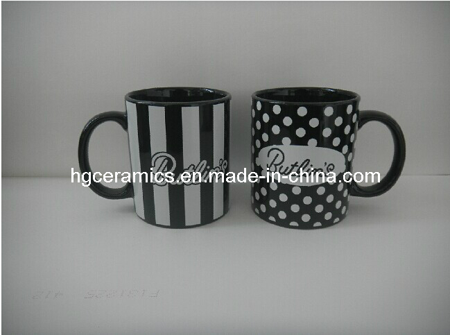 11oz Decal Printed Black Mug, Promotional Mug