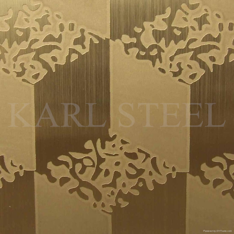 410 Stainless Steel Ket001 Etched Sheet for Decoration Materials