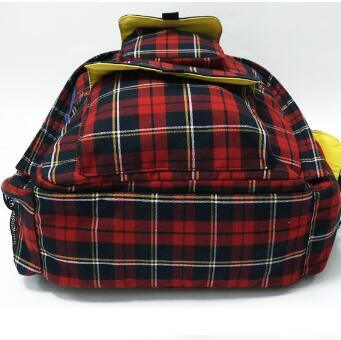 Cotton Checks British Style Child Backpack School Bags for Boys Girls Fashion Mochila High Quality Travel Bags