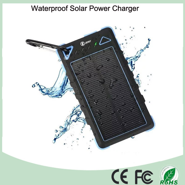 8000mAh Dual USB Interface Solar Battery Charger with LED Light (SC-1788)