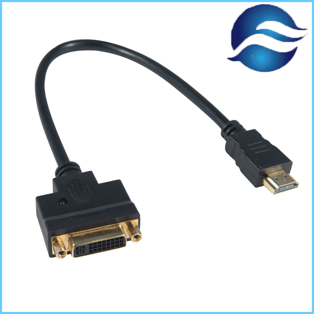Wholesale 1.8m HDMI to DVI Adapter Cable High Speed Data Cables with 24K Gold-Plated Connectors
