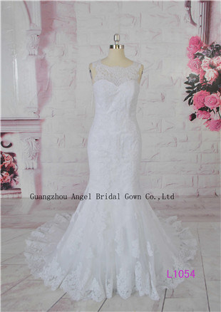 Fairy French Lace Extravagance Beach High Quality Sweetheart Bridal Gown