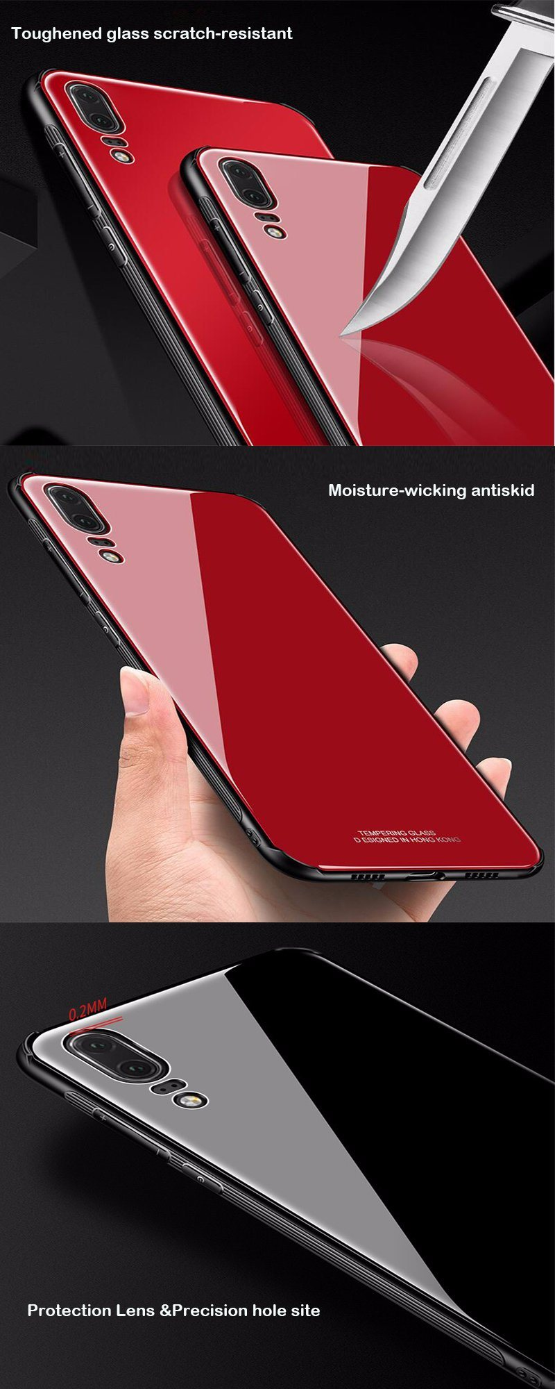 Tempered Glass Mobile Phone Case for iPhone 8