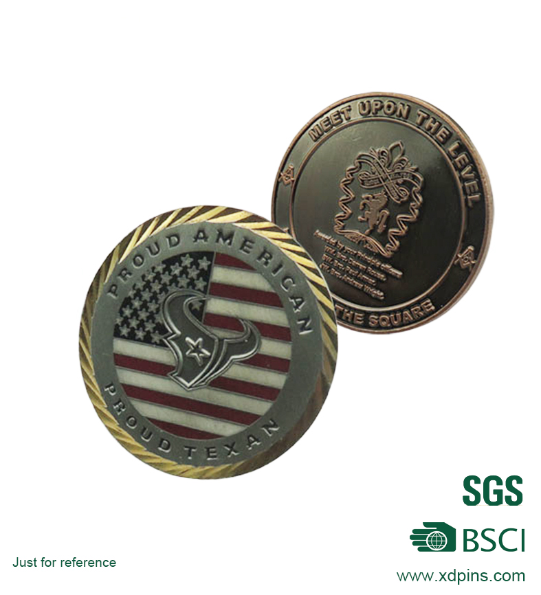 3D Logo Gold Plated Soft Enamel Souvenir Coin for Promotion Gift