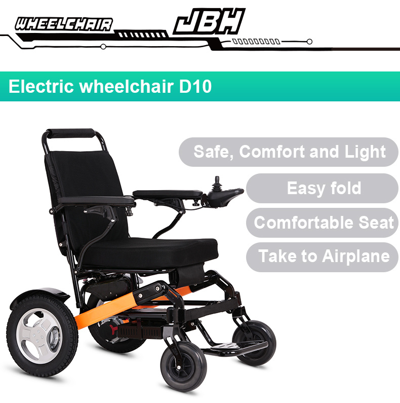 Lightweight Travel Electric Wheelchair with Lithium Battery