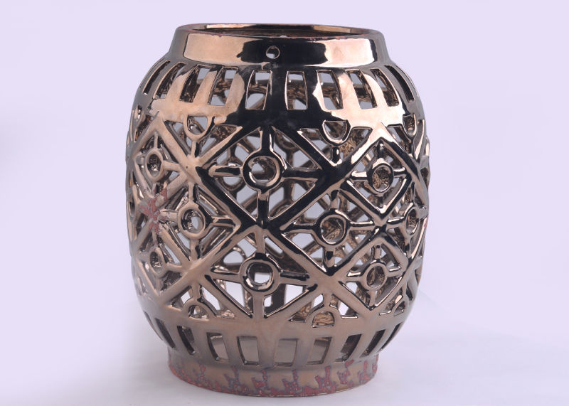 Electroplated Ceramic Candle Sleeve