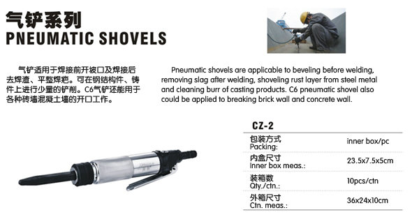 Top One Sell CZ-2 Pneumatic Shovels