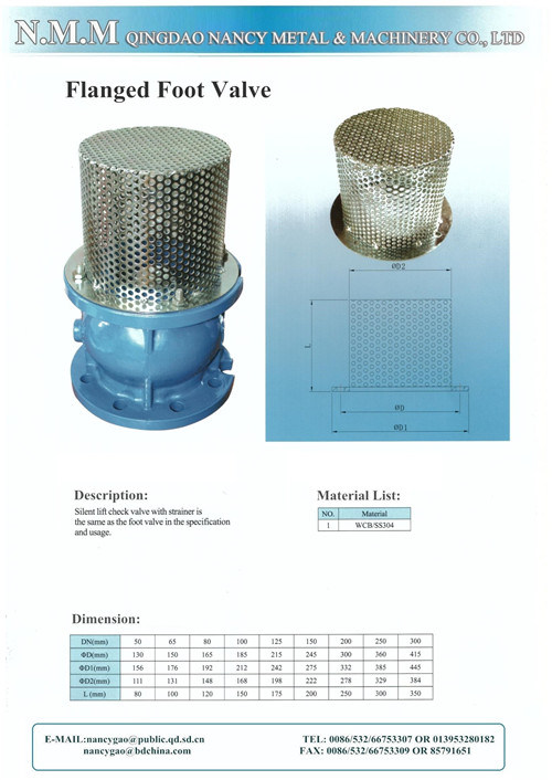 Ductile Iron Silient Flanged Type Check Valve