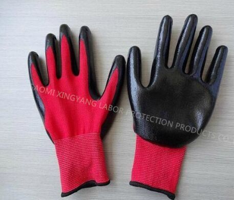 Natrile Coated Labor Protective Safety Work Glove (N7003)