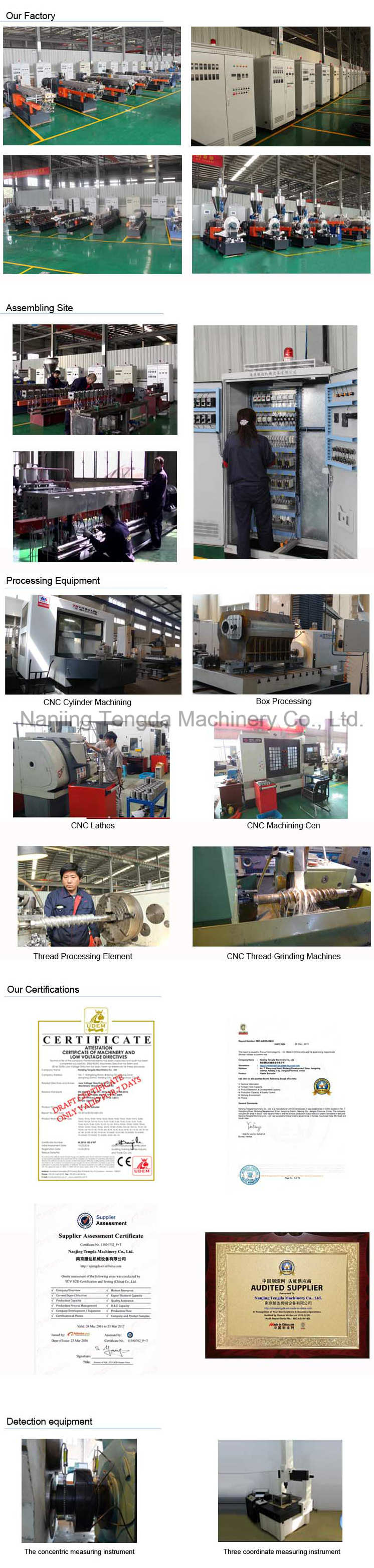 Plastic Industry Alloy Twin Screw Extruder
