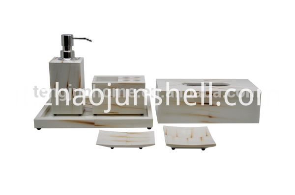white Imitation horn bathroom sets for luxury hotel