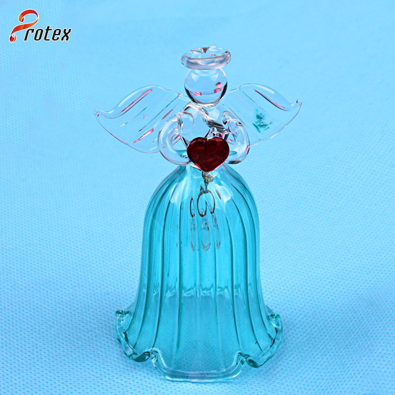 2015 Decoration Angel Shape Glass Lunch Bell