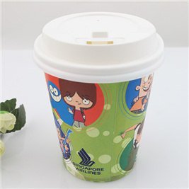 Printed Logo Design Coffee Paper Cup with Lid