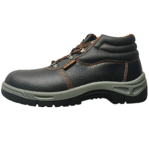 Upper PU Leather Sole PVC Work Safety Shoe