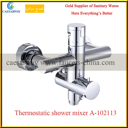 Brass Chrome Sanitary Ware Bathroom Thermostatic Shower Faucet Mixer