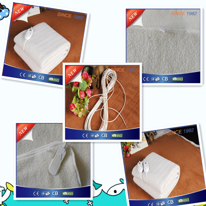 Synthetic Woool Fleece Heated Mattress for EU and Russia Market