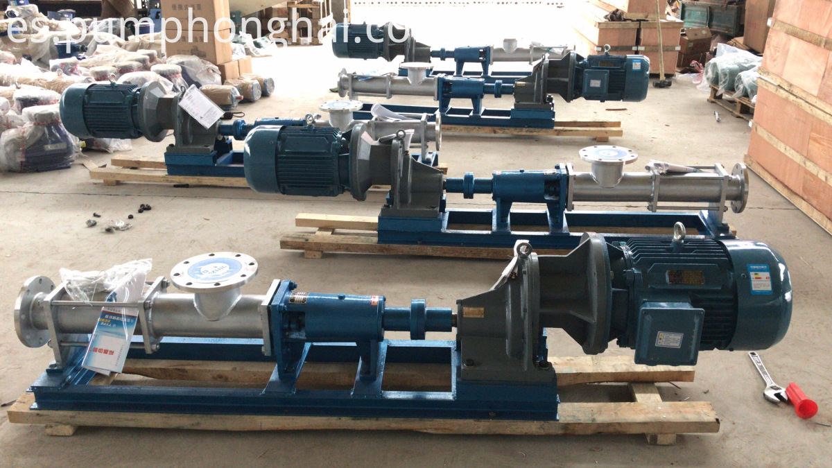 single rotor screw pumps