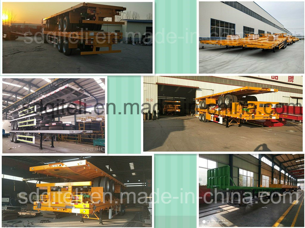 40 FT 3 Axles Platform Trailer/Flatbed Carrying Container Semi Trailer Use for Cargo Transport