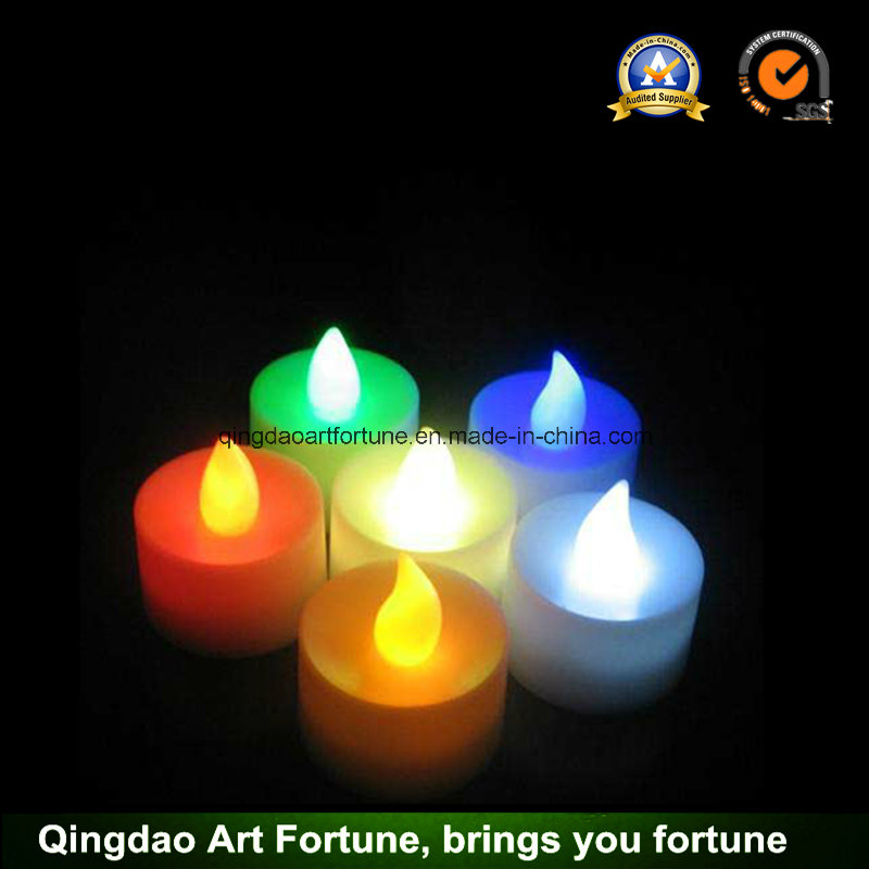 Battery Operated LED Warm White Tea Light Candle for Festival Decor