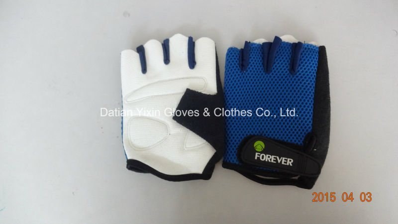 Racing Glove-Safety Glove-Hand Glove-PU Glove-Half Finger Glove