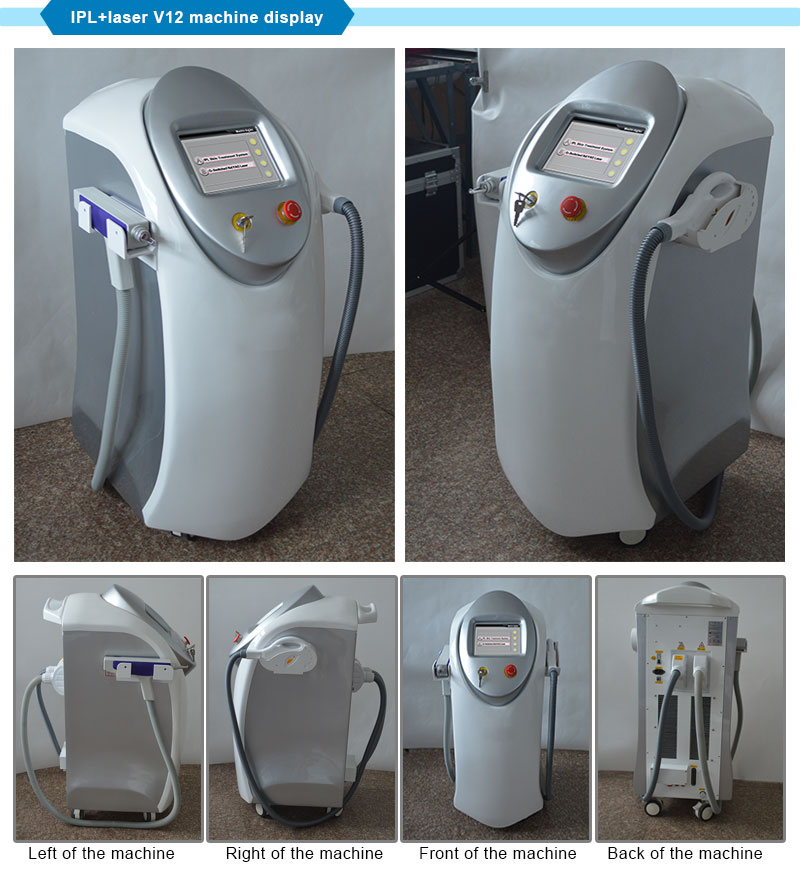 IPL Skin Rejuvenation + ND YAG Laser Tattoo Removal Equipment