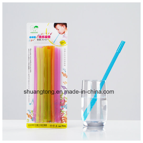 Wonderful Sound Whistle Music Straw, Pet Material