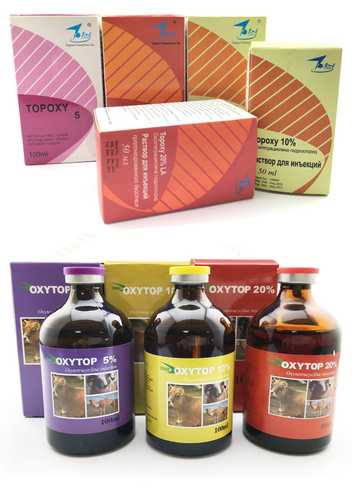 Veterinary Drugs of 10% Oxytetracycline Injection (50ml/100ml)