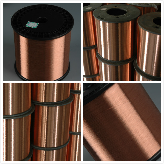 Diameter 0.10mm-4.0mm Copper Clad Steel Wire CCS as Carrying Wire for Railway