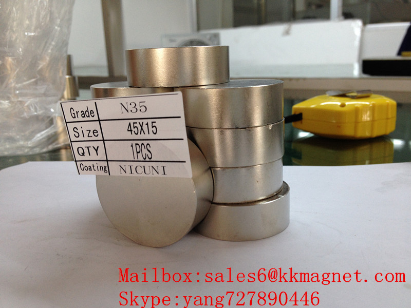 neodymium Magnet for water meters: Neva, Metron, Gerrida (until 2008 onwards: D45X15mm d45X15mm