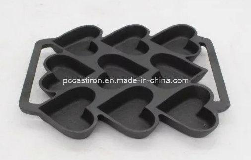 9PCS Preseasoned Cast Iron Cake Mold Bakeware 24X19cm