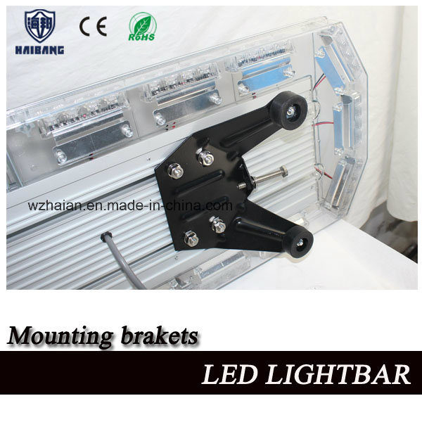 LED Warning Lightbar with White Takedowns and Alley Lights