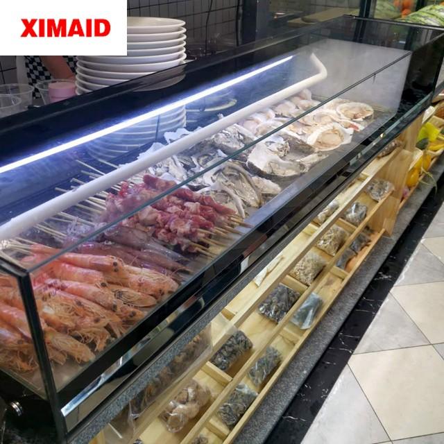 salmon display cabinet