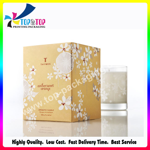 Wholesale Packaging Manufacturer Foldable Paper Gift Boxes for Candles