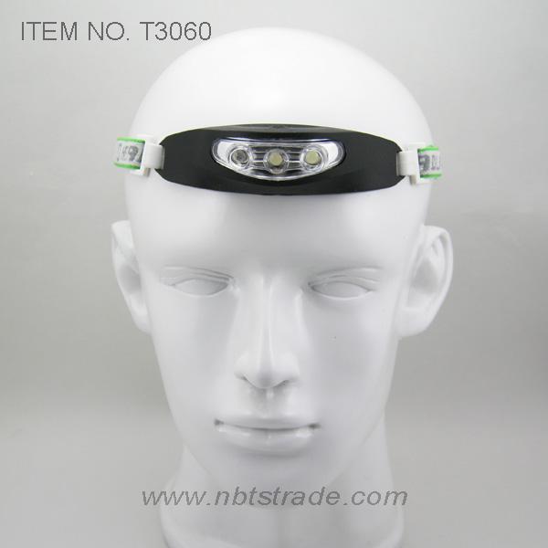 3 LED Silicon Rubber Case Headlight (T3060)