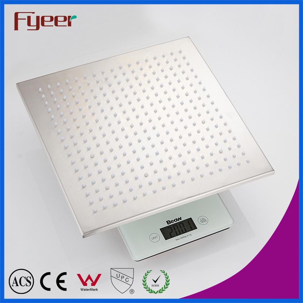 Fyeer 304 stainless Steel Chrome Plated LED Shower Head