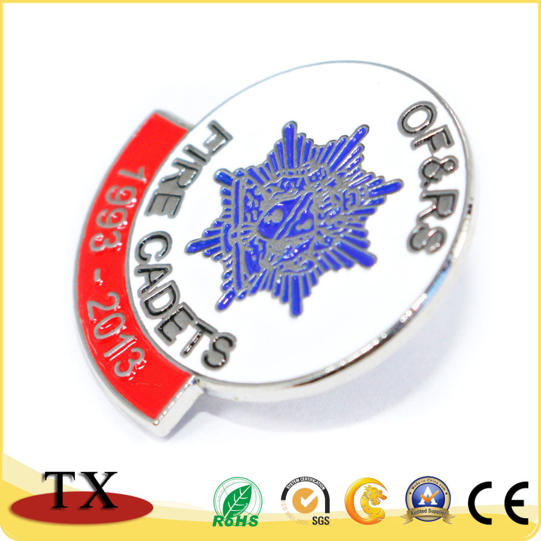 Customized Logo Metal Lapel Pin Police Badge for Promotion