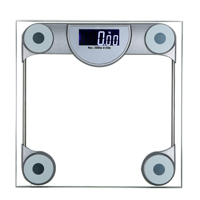 200kg Capacity Digital Clear Glass Health Weight Scale