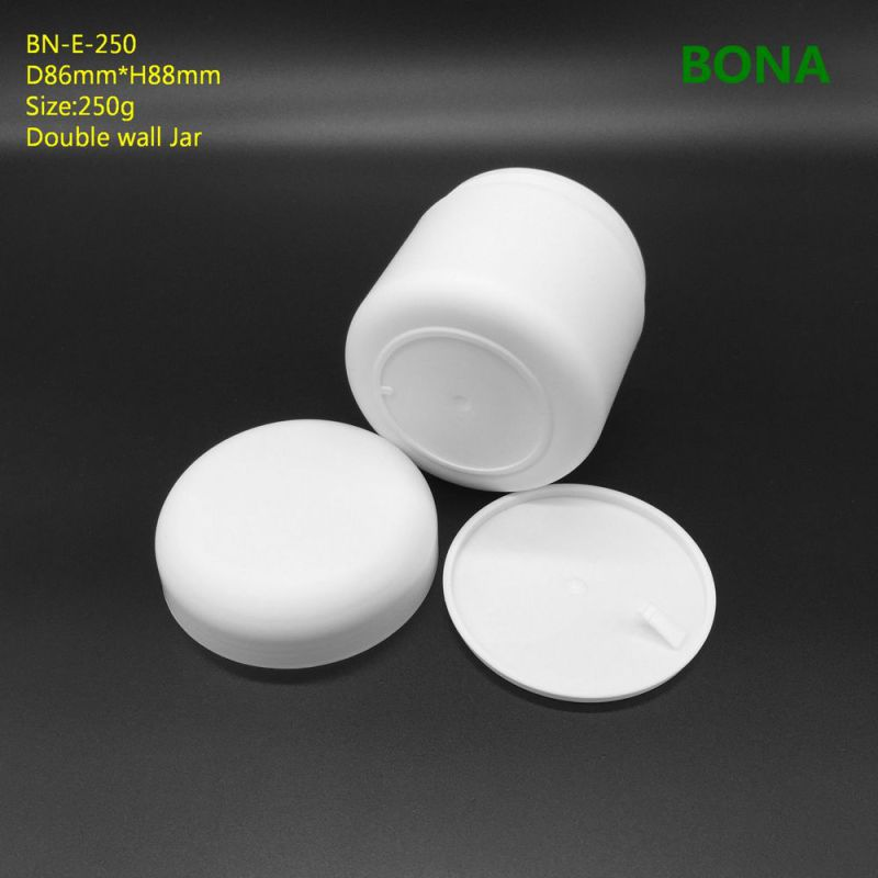 250g White Plastic Doule Wall Cream Jar