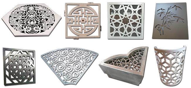 Foshan Aluminum Profile Metal Carved Fencing Panel