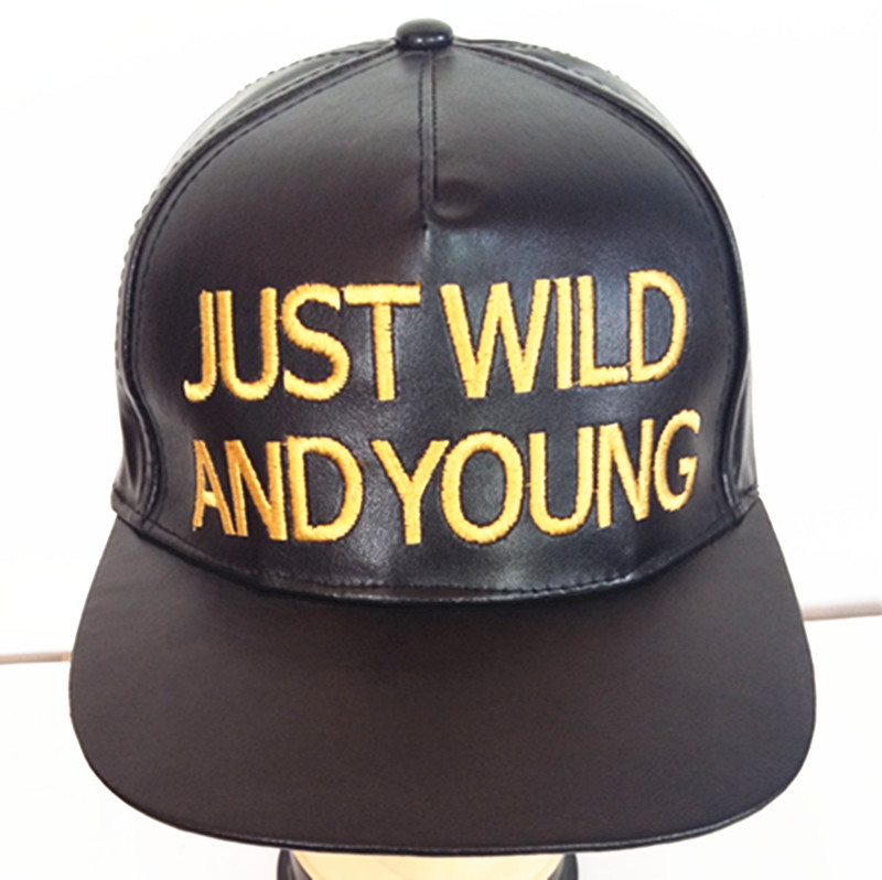 Leather Fashion Sport Cap Embroidered Leather Hat Urban Fashion Hat