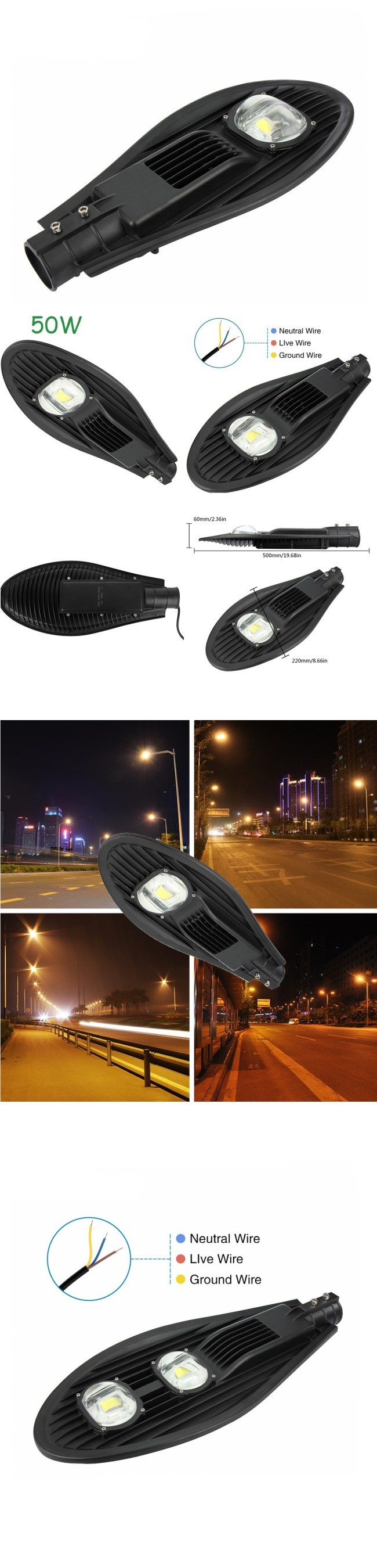 Outdoor Solar LED Street Light 20W Garden COB LED IP65