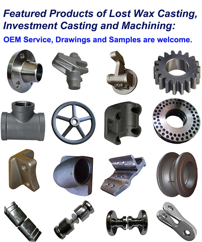 OEM Custom Steel Casting Machining Machinery Parts with ISO9001