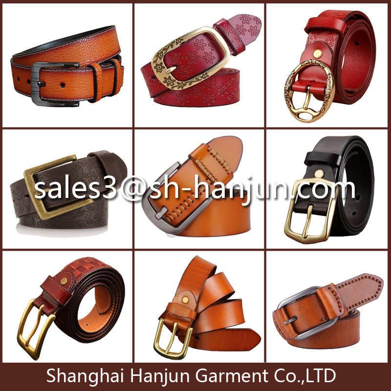 Emboss Print Fashion New Design Genuine Leather Belt