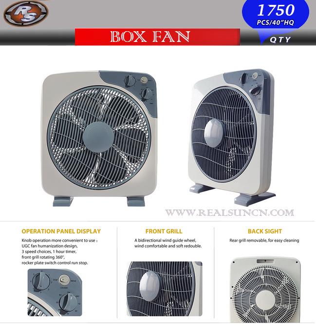 14inch Box Fan with High Level Quality Fan