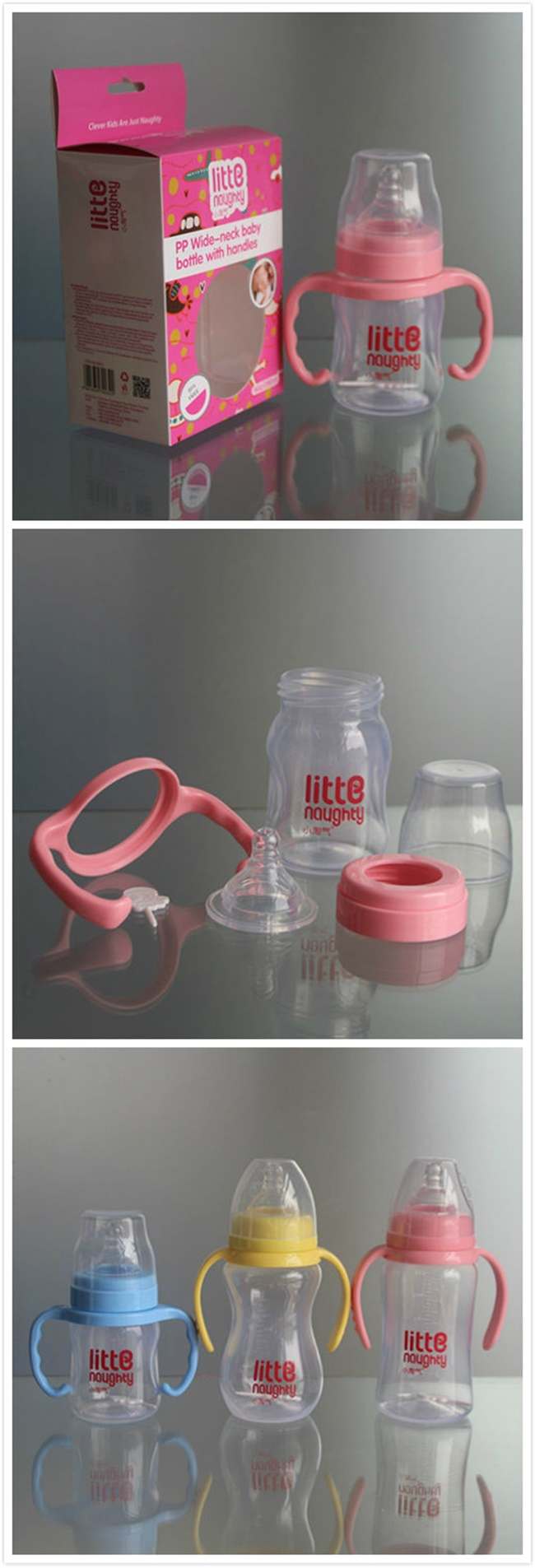 6oz 180ml Wide Neck PP Baby Feeding Bottle