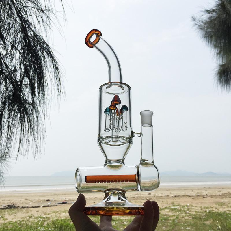 Winter Newest Design Orange Glass Smoking Water Pipes (ES-GB-296)