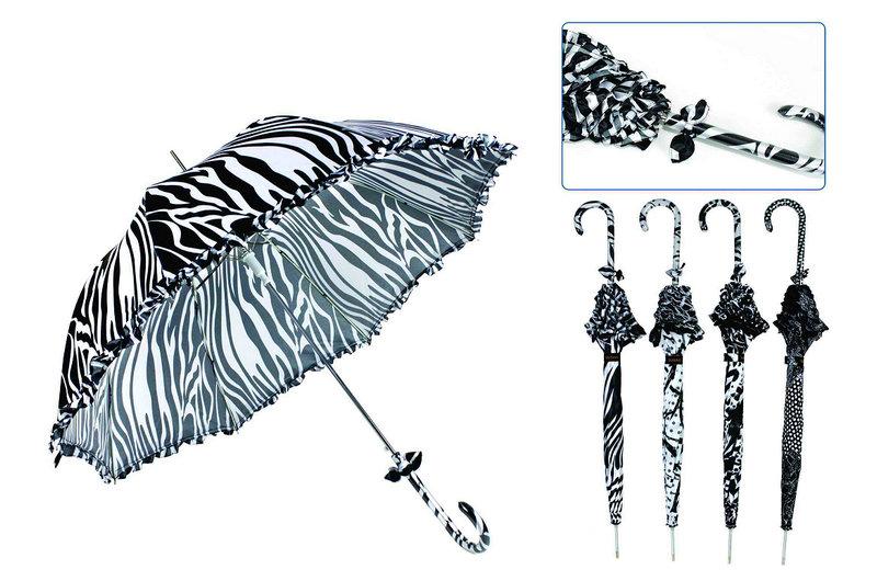 Black&White Foldable Duomatic Windproof Umbrellas (YS-3FD22083910R)