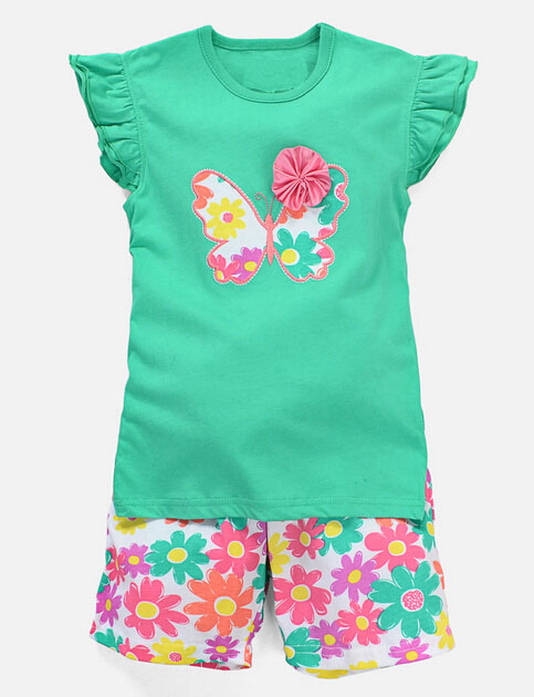 Sleeveless Girl T-Shirt Vest in Fashion Children Clothes (SV-022-027)