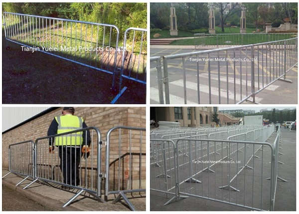 Portable Crowd Control Barrier for Multi Use, Crowd Temporary Fence Panel Barriers, Road Way Safety Crowd Control Barrier